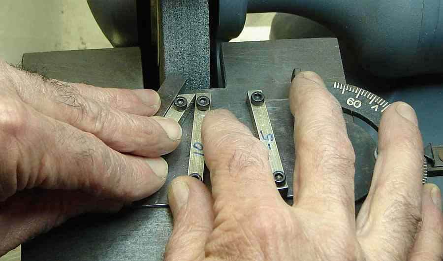 Sharpening Jig in Use