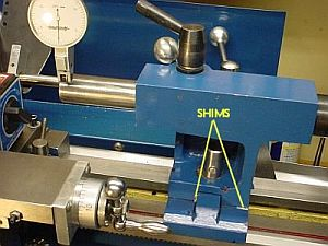 Tailstock Measurement and Shims